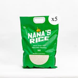 nana's rice short grain 5x5kg